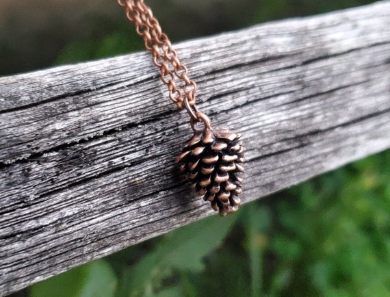Pinecone Necklace. Gift For Mom, Dad, Kids, Anniversary, Birthday, Christmas. Pinecone Pendant