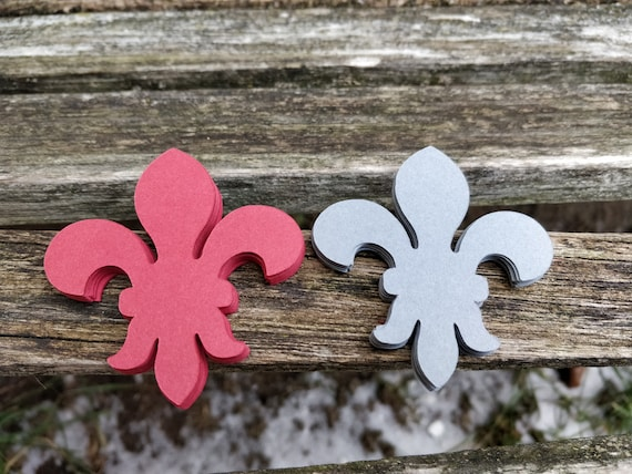 50 Fleur De Lis. CHOOSE Your SIZE & COLORS. Weddings, Scrapbooking, Favors, Place Cards, Escort Cards, Invitaions, Etc.