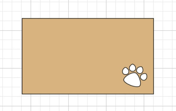 RESERVED 75 3.5 x 2 inch Paw Print Business Size Cards