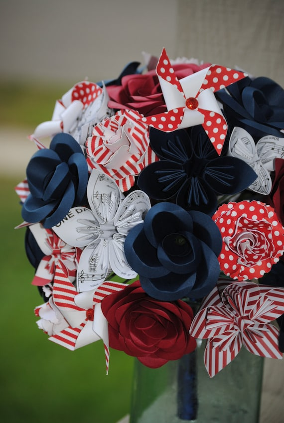 Pinwheel Wedding Bouquets. You Pick The Colors, Papers, Books, Etc.  Anything Is Possible. CUSTOM ORDERS WELCOME