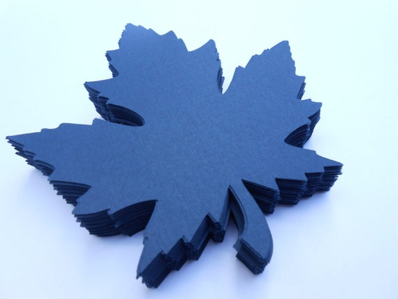 50 Maple Leaves, 4 inch. CHOOSE YOUR COLORS. Escort Card, Place Card, Wedding, Favor.