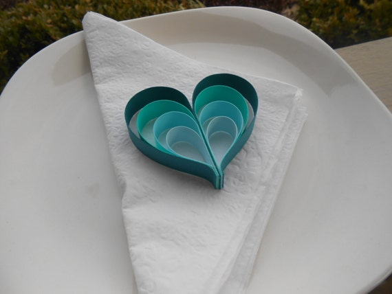 Wedding Favor Hearts. CHOOSE YOUR COLORS!! Table Decoration. Paper,.