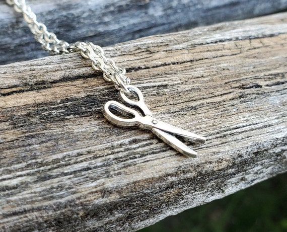Scissors Necklace. Gift For Mom,  Sewer, Quilter, Wedding, Bridesmaids, Kids, Anniversary, Birthday, Christmas.