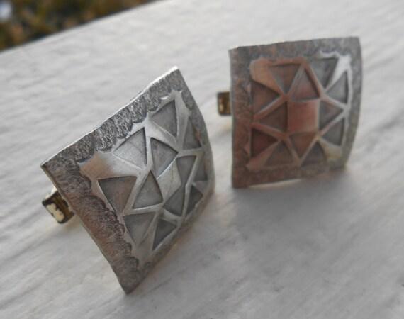 SALE: Vintage Abstract Cufflinks. Wedding, Men's Christmas Gift, Dad. Art Deco