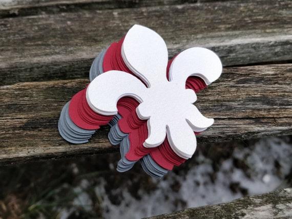 100 Fleur De Lis. 2 inch. CHOOSE YOUR COLORS. Weddings, Scrapbooking, Favors, Place Cards, Escort Cards, Invitaions, Etc.