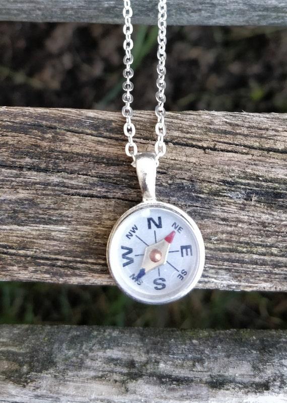 Compass Necklace. Wedding, Valentine Gift, Anniversary Gift. Travel, Steampunk