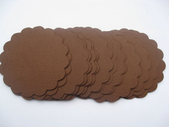 Scalloped Circles. Choose your amount & size. Wedding, Gift, Scrapbooking, Favor, Cupcake, Garland, Escort Card.