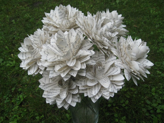 Book Dahlias. Perfect for First Anniversary, Weddings, Birthdays. Unique Gift. CUSTOM ORDERS WELCOME.
