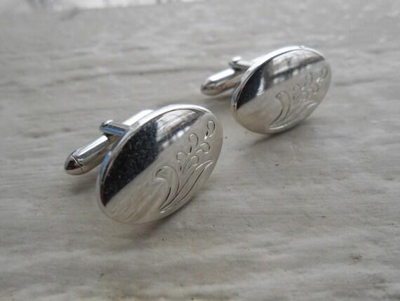 Vintage Silver Cufflinks. Wedding, Men, Groom, Christmas Gift, Dad. Anniversary