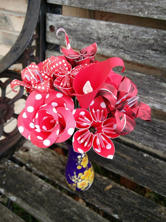 Mini Flower Bouquet, CHOOSE YOUR COLORS & Flowers. Valentine Gift, Anniversary, Birthday, Home Decor. Custom Orders Welcome.
