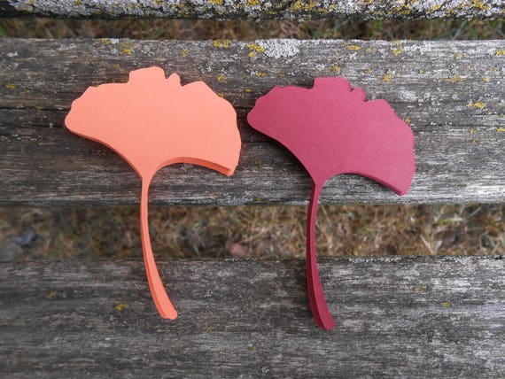 100 Ginko Leaves. 4 inch. CHOOSE YOUR COLORS.  Wedding, Favor, Tags, Escort, Wishing Tree, Thank You.