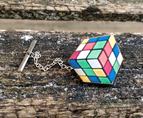 Game Cube Tie Tack. Wedding, Groomsmen Gift, Groom. Anniversary. Birthday. Valentine's Day