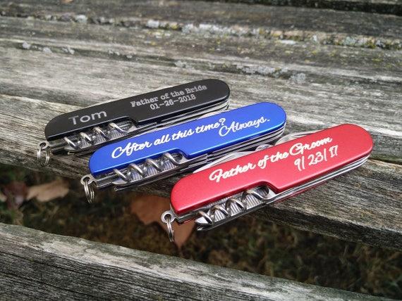 Customized Pocket Knives, Laser Engraved. Wedding, Groom, Groomsmen Gift, Dad, Anniversary. Knife, Christmas