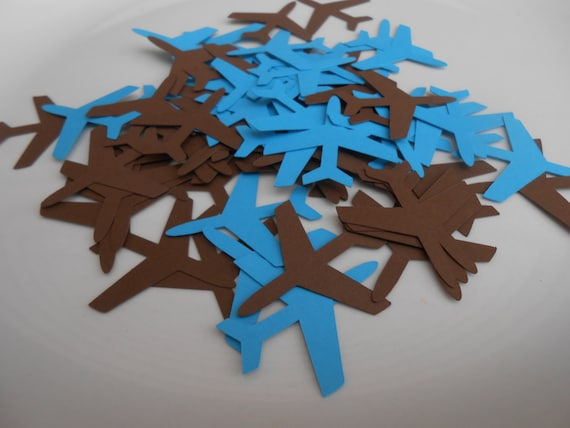 500 Airplane Confetti CHOOSE YOUR COLORS. Birthdays, Travel Weddings, Showers, Destination weddings. Custom Orders Welcome.