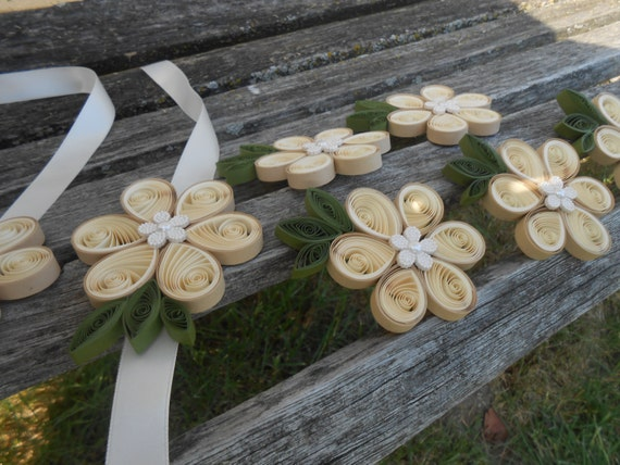 Custom Boutonnieres & Corsages. CHOOSE Your COLORS. Wrist or Pin-On. QUILLED. Weddings, Prom, Homecoming, Etc.