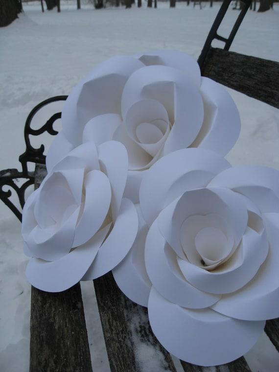 HUGE Paper Roses, Wedding Decoration. You CHOOSE The COLORS.  Huge Rose Decoration. Custom Orders Welcome.