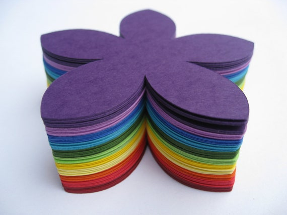 100 Rainbow Flowers. 3 inch. Other Colors And Sizes Available. CUSTOM ORDERS Welcome. ROYGBIV