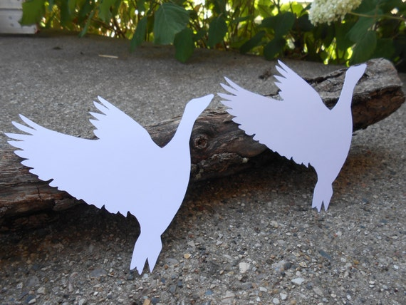 50 Flying Geese Cutouts. 5 inch. Your Choice Of Color. Custom Orders Welcome. Weddings, Favor, Wishing Tree, Escort, Gift, Table.