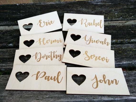 70 Wedding Name Tags. Personalized Tags. Laser Engraved Wood. Custom Orders Welcome.