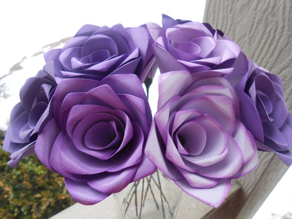 Dozen Paper Roses. CHOOSE YOUR COLORS. Anniversary, Valentine's Day, Birthday, Bridal. Flowers That Last Forever.