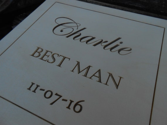 Personalized Cigar Box.  Groomsmen Gift, Wedding Gift. Choose Your Font & Words.