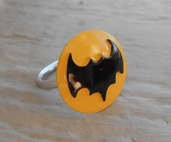 Vintage Batman Ring, Size 7.5