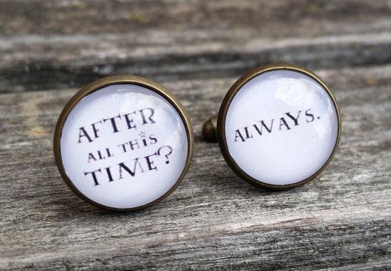 After All This Time? Always Cufflinks. Wedding, Groom Gift, Anniversary, Birthday, Groomsmen.