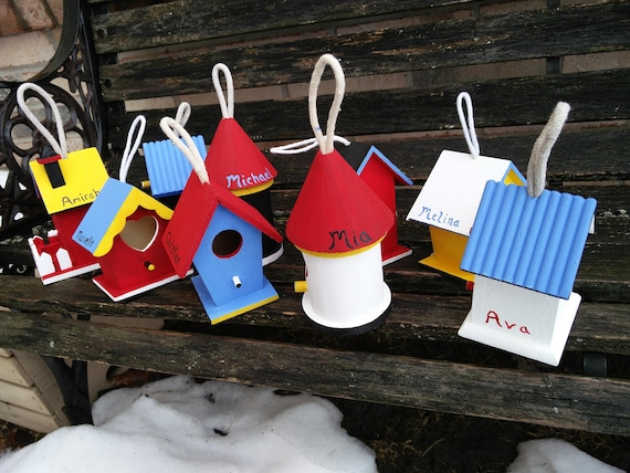 15 Birdhouses. YOUR CHOICE Of COLORS & Decoration.  Yard Decor, Wedding, Shower, Etc. Custom Orders Welcome.