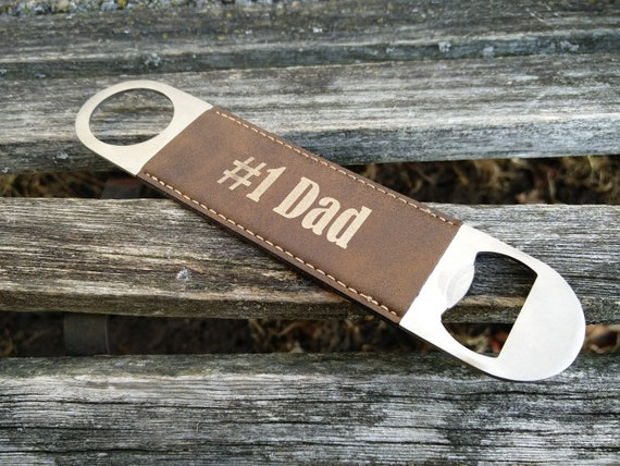 Customized Bottle Opener, Leather. Laser Engraved. Wedding, Groom, Groomsmen Gift, Dad, Anniversary, Birthday, Christmas, Personalized