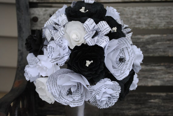 CUSTOM Bridal Bouquet. Your Choice Of Colors, Flowers, Books, Etc. Custom Orders Welcome.