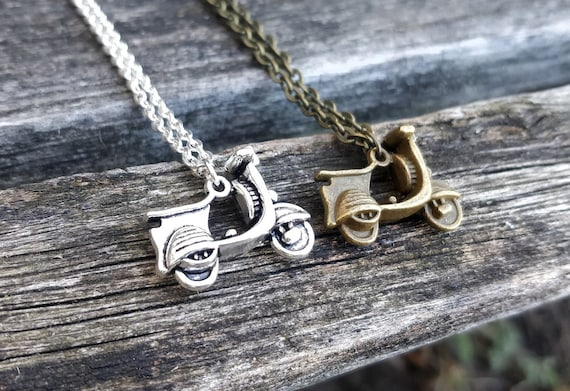 Scooter Necklace. CHOOSE YOUR COLOR! Gift For Him, Gifts For Her, Dads, Anniversary, Birthday, Christmas.