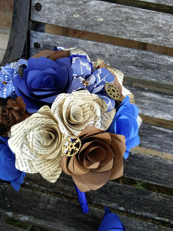 BOOK Wedding Bouquet. YOUR CHOICE Of Colors, Paper, Etc. Custom Orders Welcome.