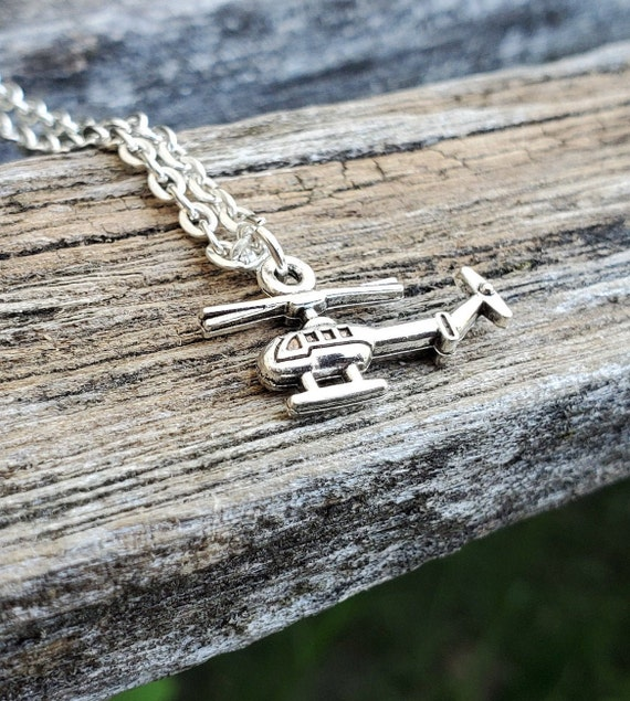 Helicopter Necklace. Gift For Mom, Dad, Boys, Girls, Kids, Anniversary, Birthday, Christmas.
