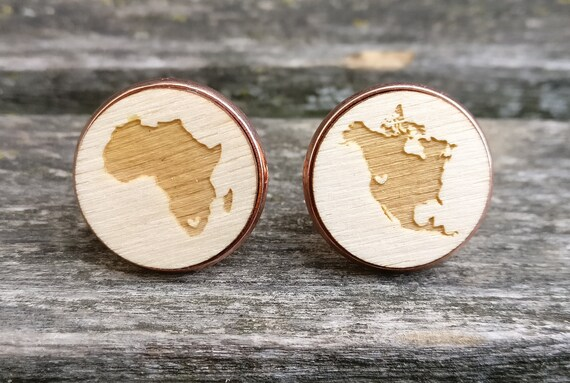 Your Country Or State Wood Cufflinks. Laser Engraved. Wedding, Men's, Groomsmen Gift, Dad. Custom Orders Welcome. Map, Country, AU