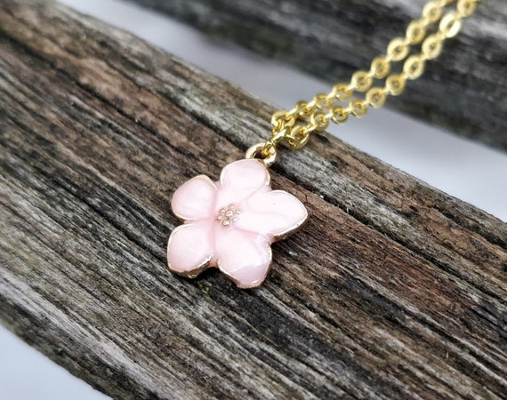 Sakura Necklace. Cherry Blossom Necklace. Gift For Wedding, Bridesmaids, Anniversary, Birthday, Christmas. Japanese