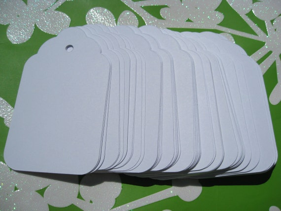 125 Scalloped Tags, CHOOSE SIZE & COLORS. Wedding, Favor, Place Card, Escort Card, Gift Tag, Wishing Tree Tag. Custom Orders Welcome