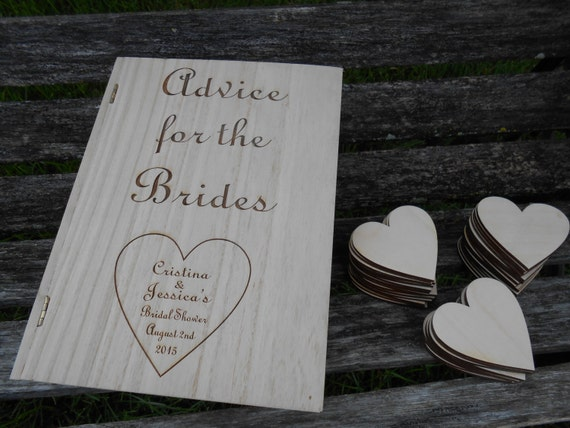 LGBT Advice/Guest Book Box, With Hearts. Guest Book Alternative.Wedding Decor.Laser Cut. Custom Orders Welcome.