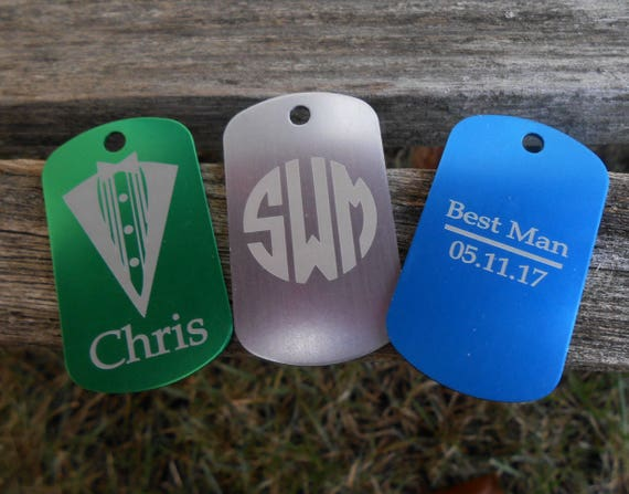 Custom Dog Tags. CHOOSE YOUR DESIGN & Color. Laser Engraved. Wedding. Favor. Gift.  Military. Business Logo. School. Custom Orders Welcome.