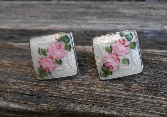 Vintage Sterling Silver Earrings. Floral, Flowers. Great Mother's Day, Valentine, Birthday Gift. Mother of Bride, Groom. Anniversary
