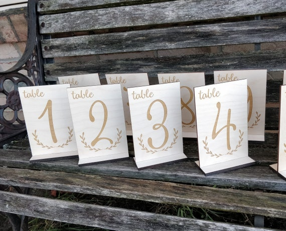 Wood Table Numbers. Laser Cut Wood. Wedding Decoration, Events, Prom. CUSTOM ORDERS WELCOME.