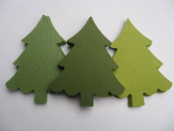 100 Christmas Trees. CHOOSE SIZE & COLORS. Custom Orders Welcome. Holiday Decor, Tags, Gifts
