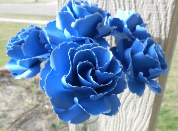 Wild Roses, Half Dozen. CHOOSE YOUR COLORS. Centerpiece, Wedding, Paper Flower Bouquet