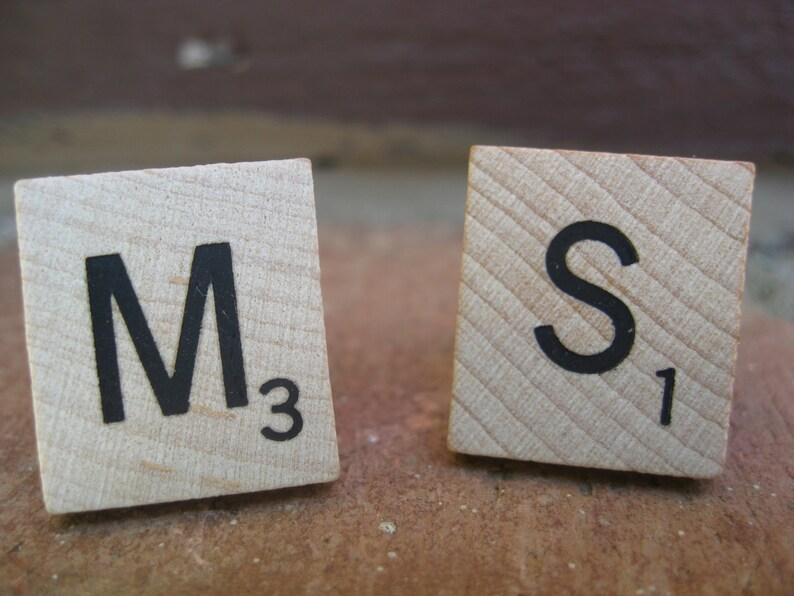Wedding Groomsmen Gift CHOOSE YOUR LETTERS Monogram Tile Cufflinks Dad Custom Orders Welcome.