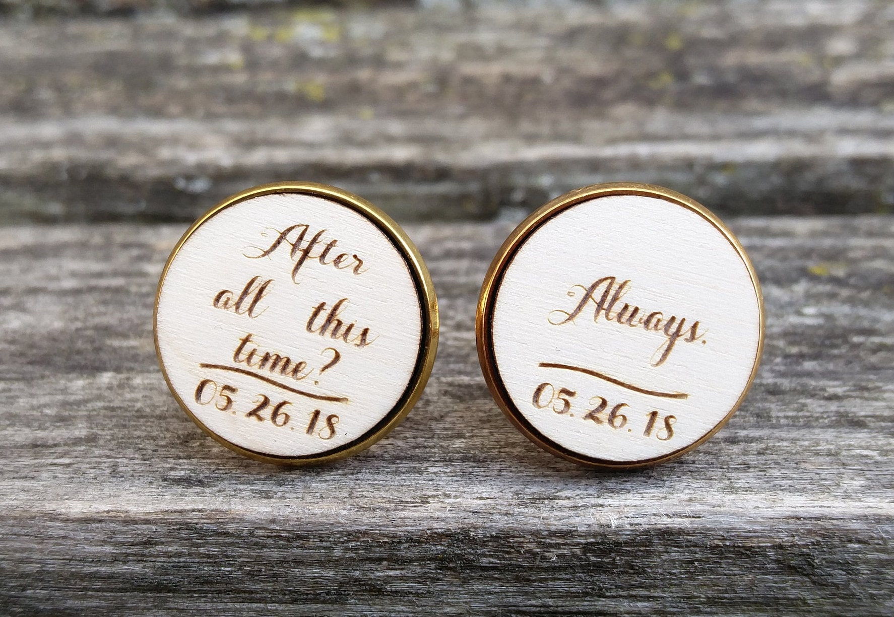 After All This Time Always Cufflinks Wedding Groom Gift