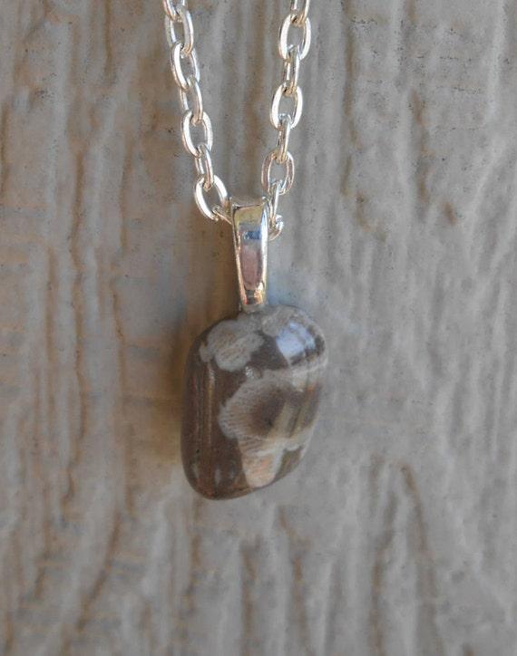 Petoskey Stone Necklace. Unisex Gift, Mom, Dad, Bridesmaids, Birthday, Anniversary. Michigan