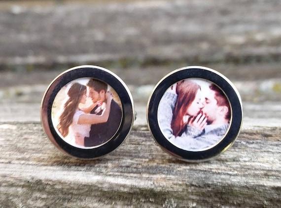 Your Photo Cufflinks. Custom, Personalized. Groom Gift, Dad Gift, Anniversary, Birthday, Memory Locket, Unique, Valentine