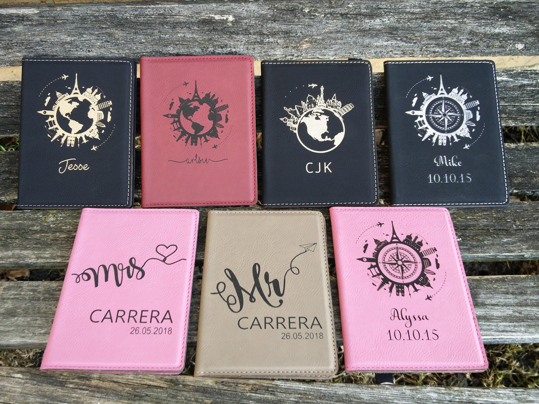 Customized Passport Holder. Leather, Laser Engraved. Travel, Wedding ...