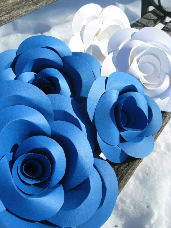 HUGE Paper Roses. Display, Wedding Decoration. You CHOOSE The COLORS.Decoration. Custom Orders Welcome.