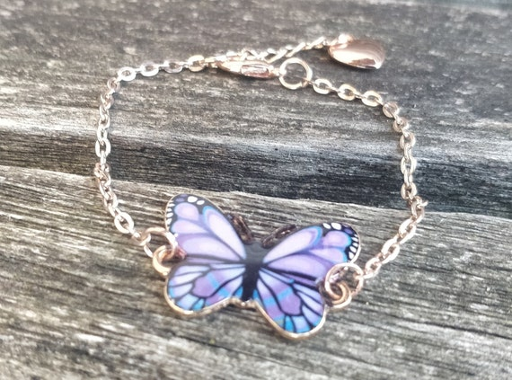 Butterfly Bracelet, CHOOSE YOUR COLOR. Gift For Girls, Anniversary Gift, Birthday Gift, Gift For Mom.