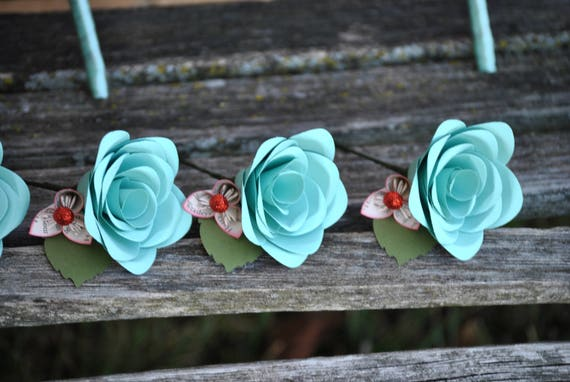 Paper Rose Boutonnieres. CHOOSE YOUR COLORS! Any Amount, Colors, Theme, Etc. Custom Orders Welcome.